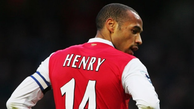légende d'arsenal : thierry henry