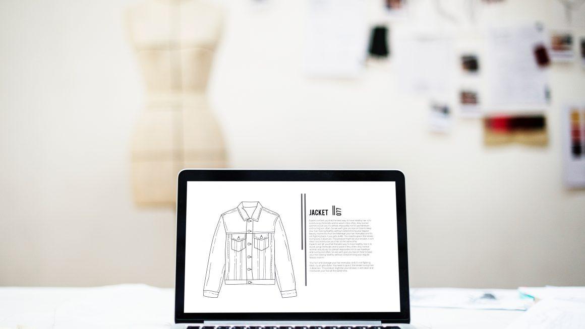 maquette d'e-commerce de vêtements